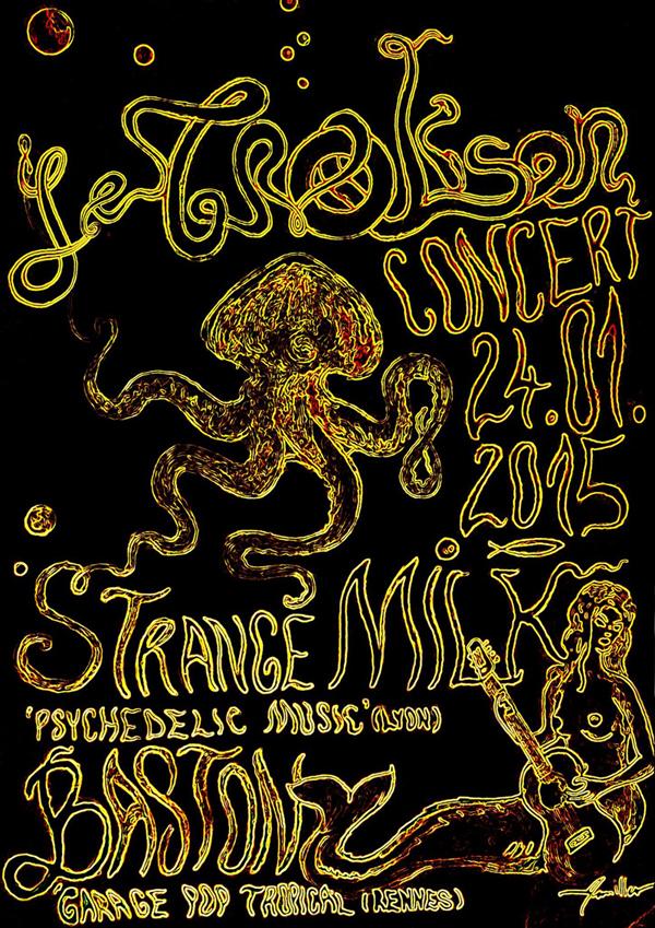 Strange Milk + Baston en concert gratuit ce samedi 24/01 au Troskon